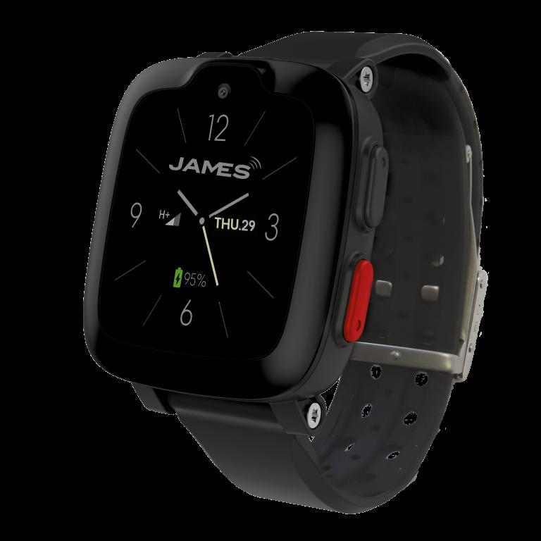 JAMES Notrufuhr S6 mit Sperrband in der Seitenansicht