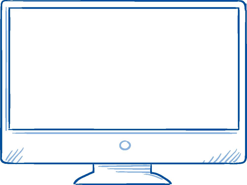 Illustration Computerbildschirm