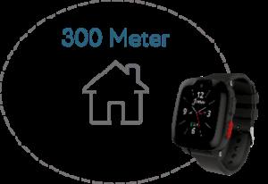 Illustration 300 Meter Radius Bewegungszone mit S6 Uhr