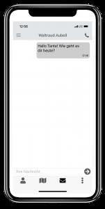 Nachricht in der JAMES App auf einem iPhone 12