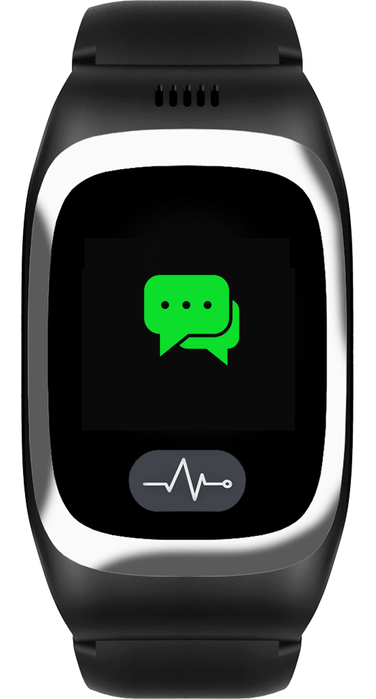 JAMES Notrufuhr B6 in Schwarz mit grünem Chatsymbol