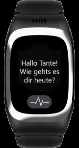 JAMES Notrufuhr B6 in Schwarz mit neuer Nachricht