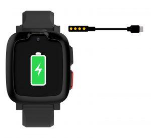 JAMES Notrufuhr S6 mir grüner Batterieanzeige und symbolischem Ladekabel