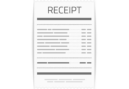 Illustration einer Rechnung