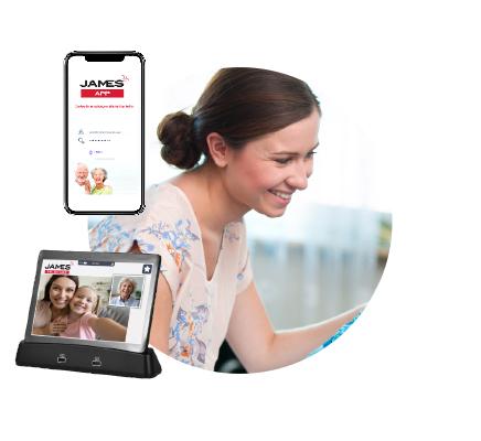 24/7-Pflege Anna mit dem JAMES Tablet und App