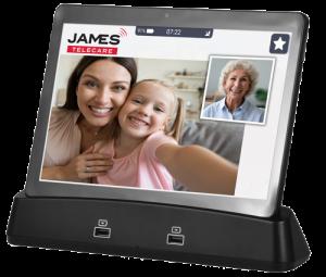 JAMES Tablet mit Videocall