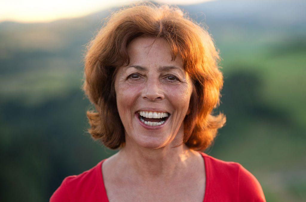 Porträt einer lachenden Susanne
